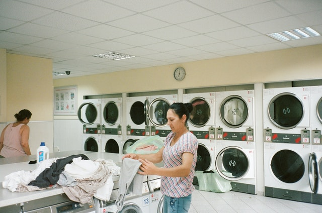offering laundry machines use to renters